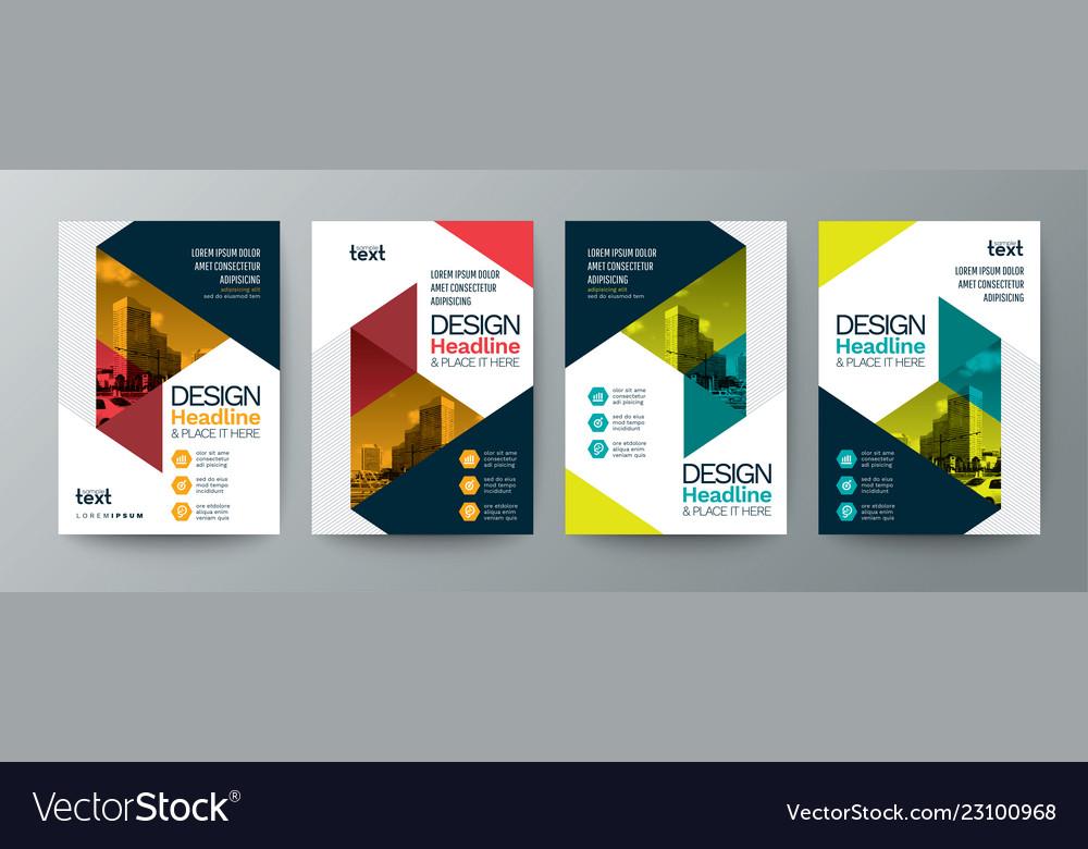 Collection of modern design poster flyer brochure