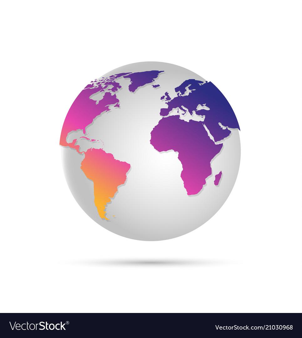 Digital world globe