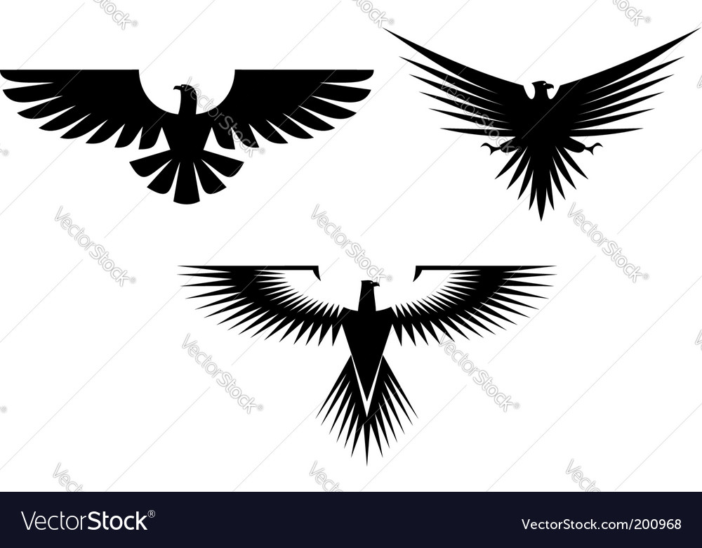 Eagle tattoos vector image