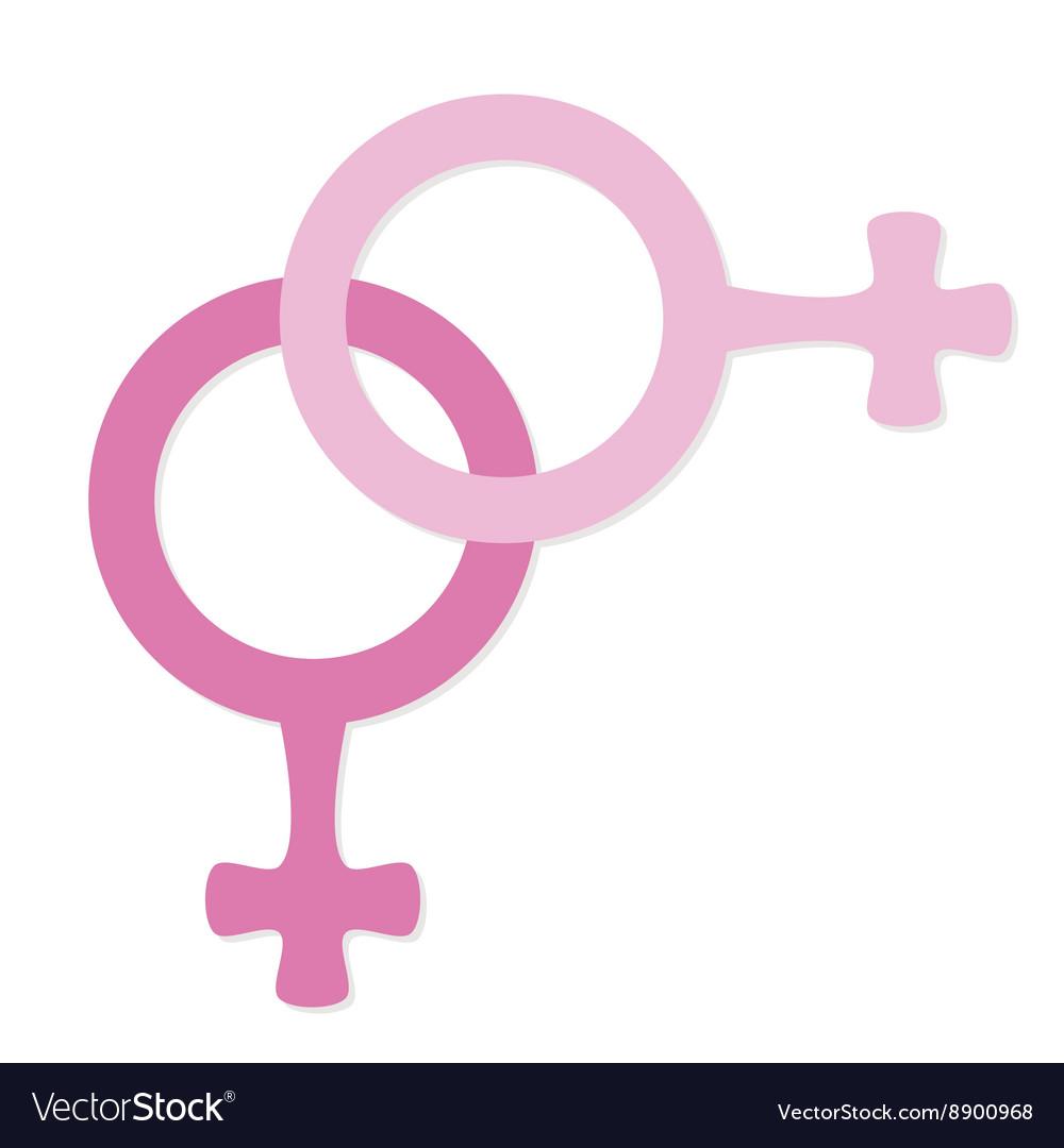 Female icon lesbian vector image