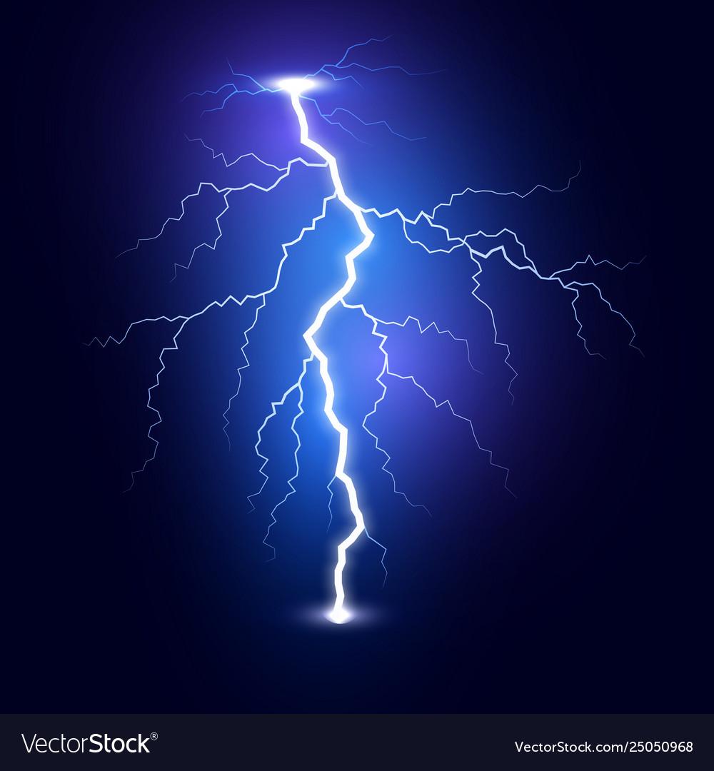 Lightning flash bolt thunderbolt isolated on dark