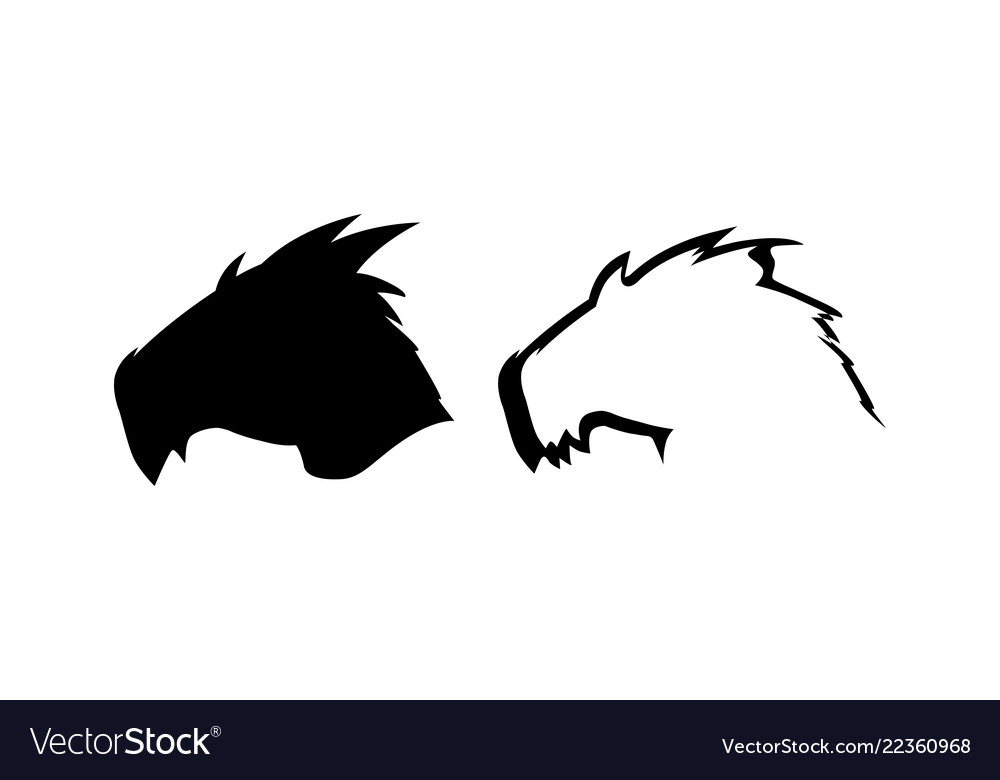 Silhouette of dragon head