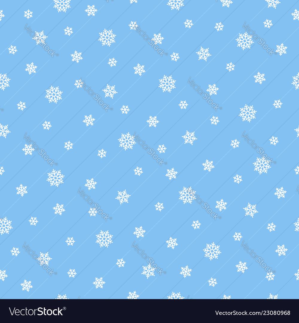 Snow seamless pattern background