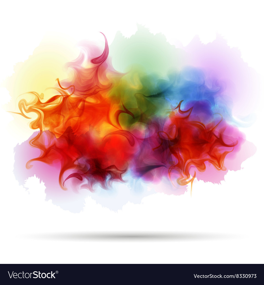 Abstract splash colorful smoke background