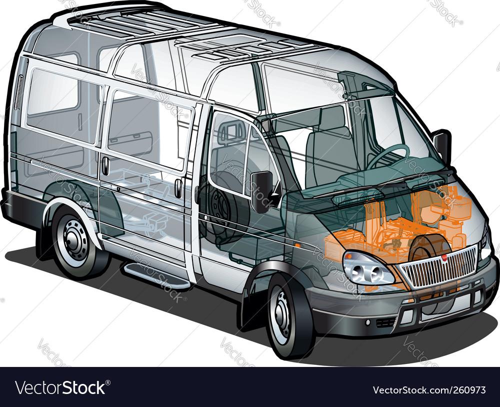 Delivery cargo van cutaway