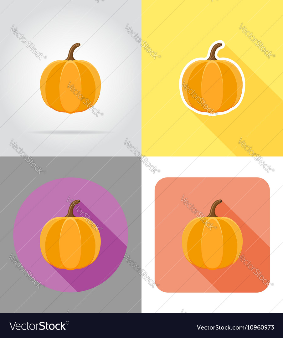 Halloween flat icons 02 vector image