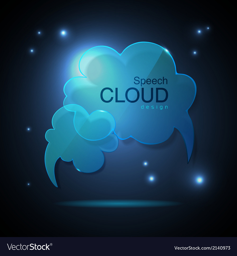 Website template design Cloud speech bubble