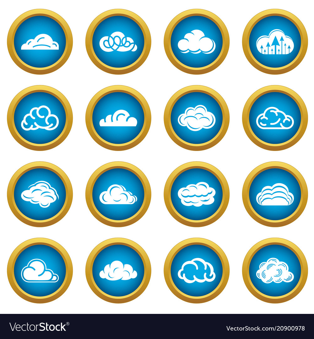Cloud icons set simple style