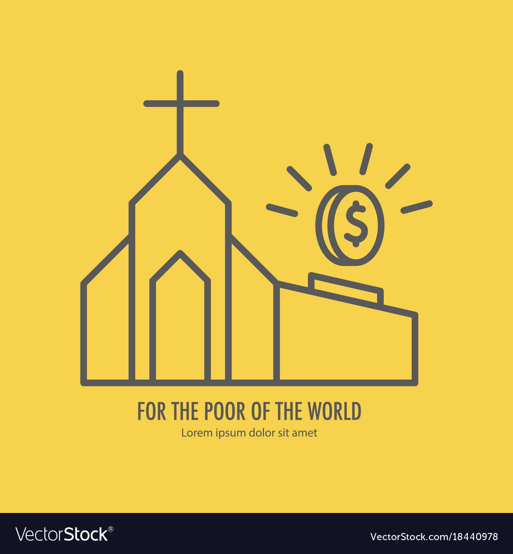 Donation and charity on church