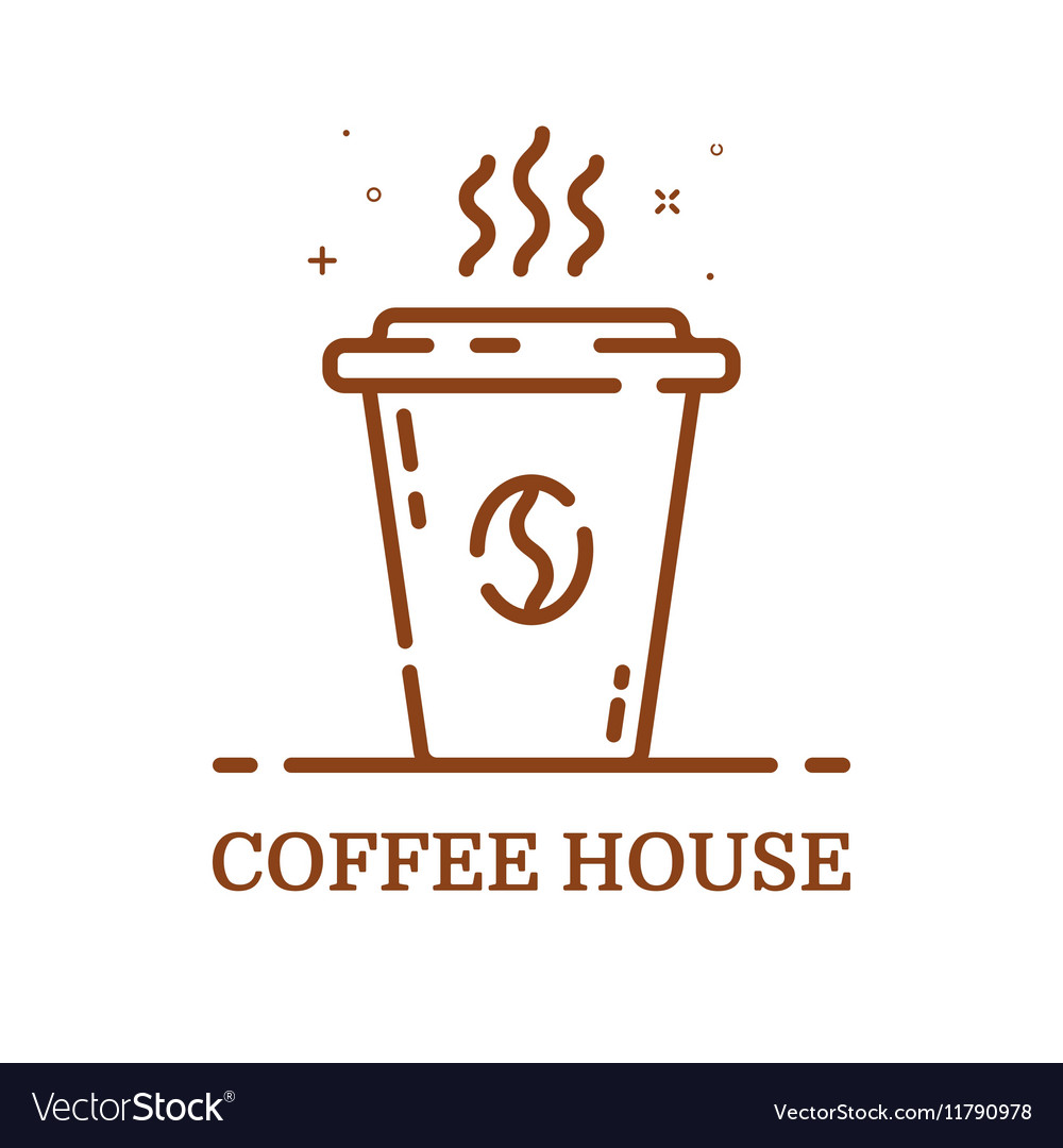 Emblem concept coffee house