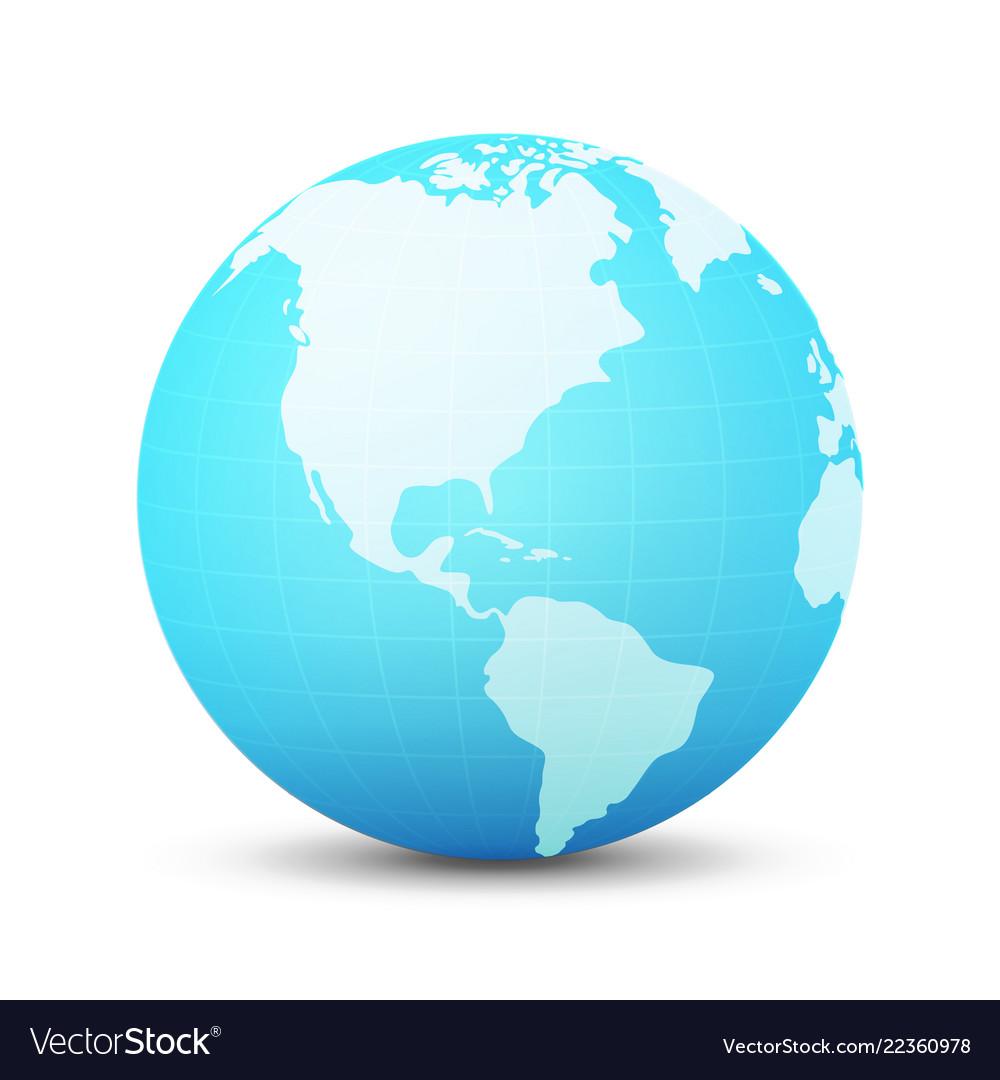 Globe in blue color