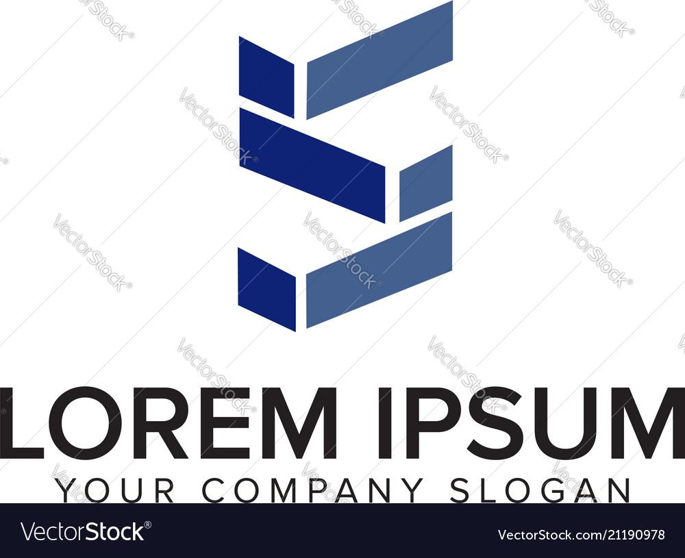 Letter s logo architectural logo design concept