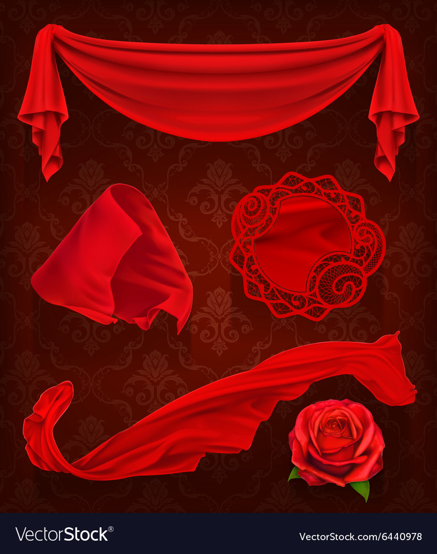 Red cloth vector image