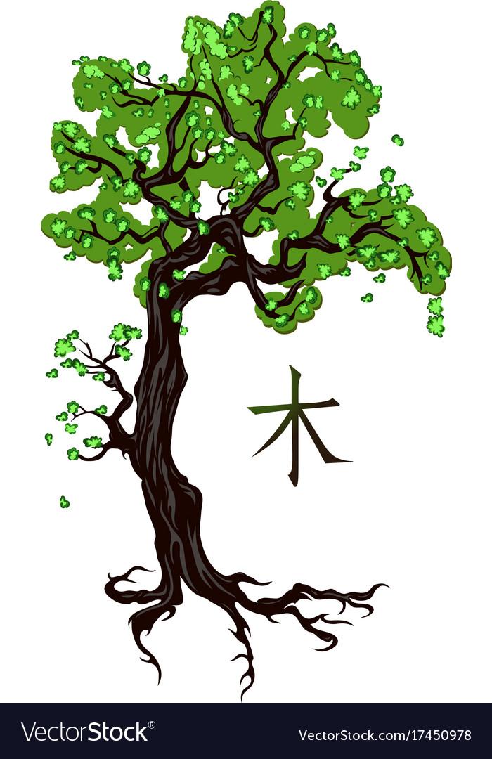 Tree tattoo on white