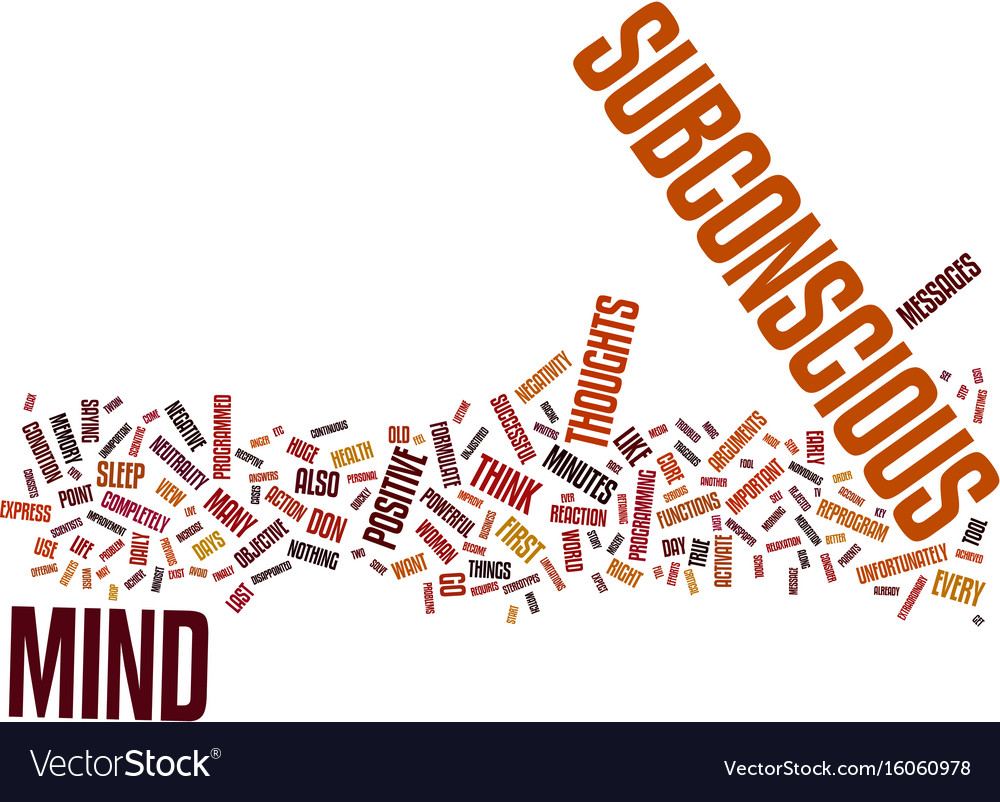 Your subconscious mind the key to your successful vector image
