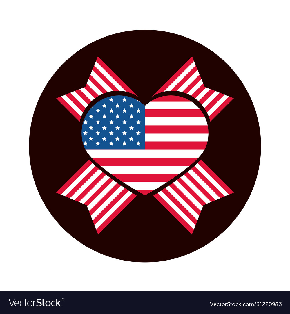 4th july independence day american flag heart