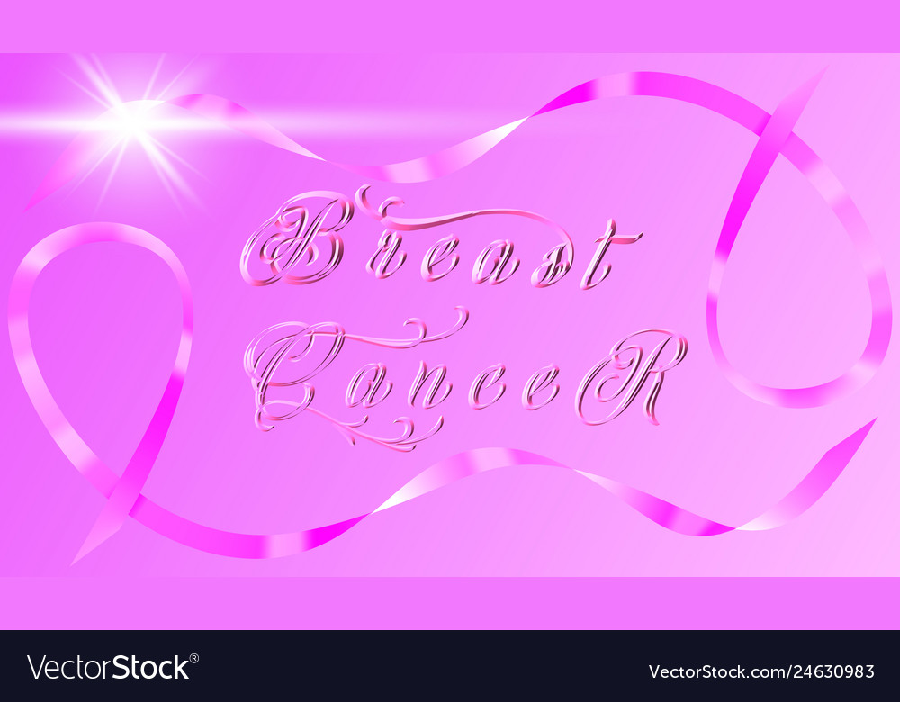 Breast cancer awareness ribbon background - file