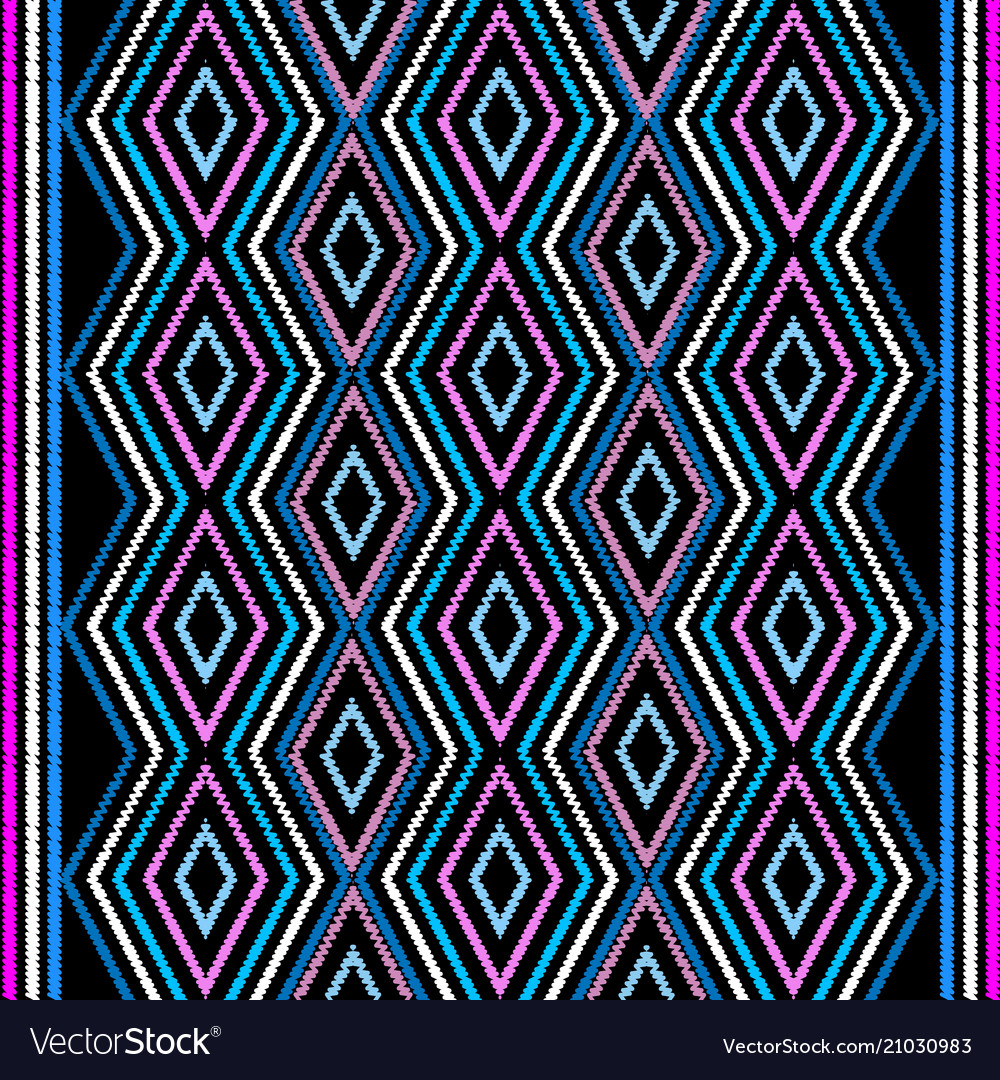 Embroidery geometric seamless border