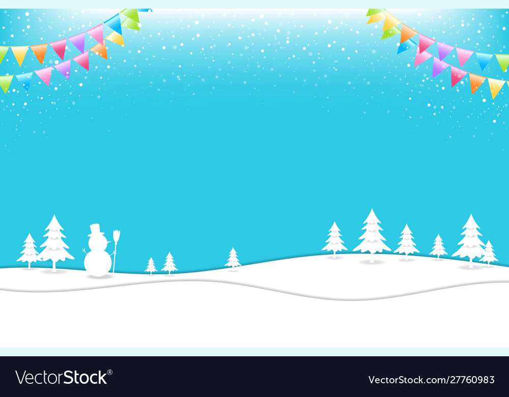 Merry christmas banner poster template with