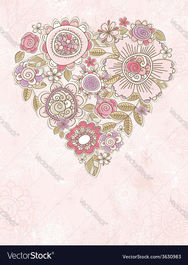 Pink background with valentine heart