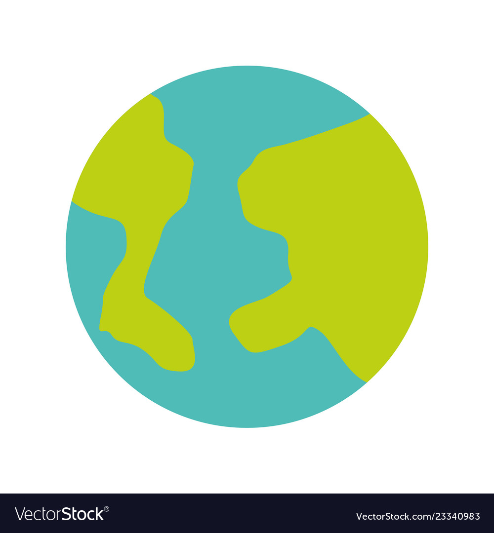 Planet earth white background