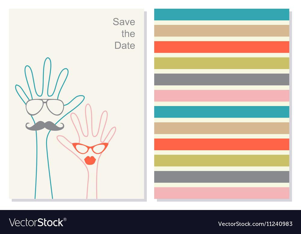 Stylish creative invation card vector image