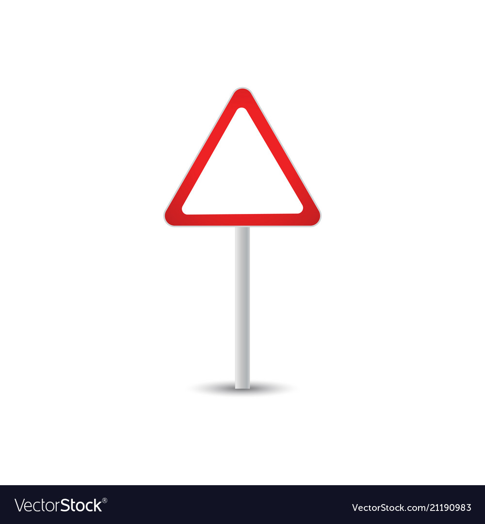 Traffic sign graphic template Royalty Free Vector Image