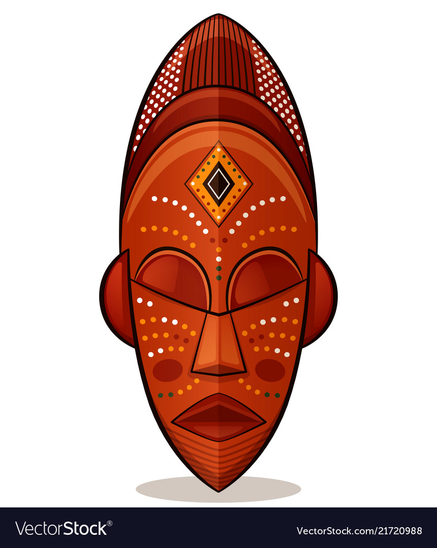 African mask wood concept
