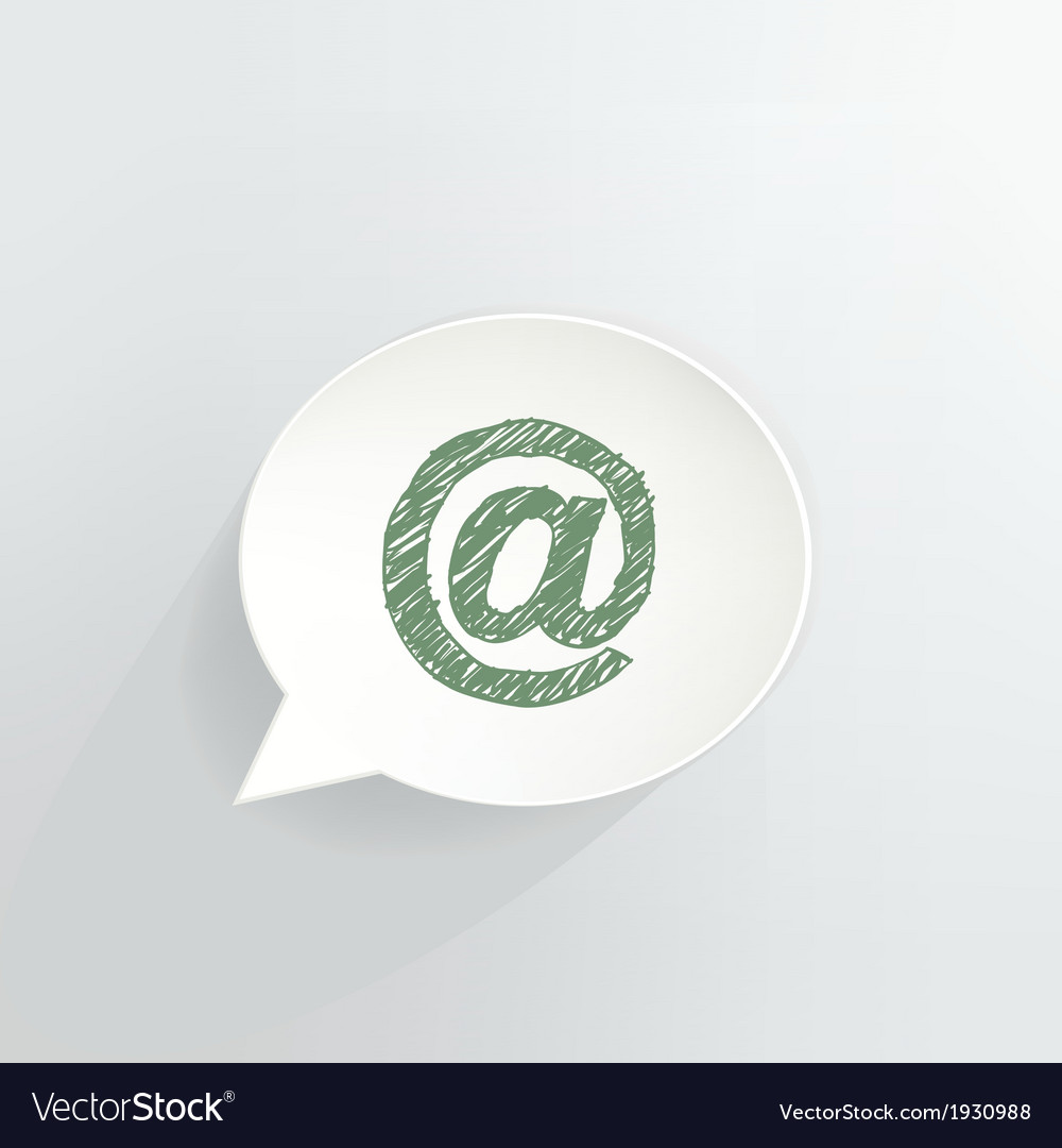 At Sign vector image