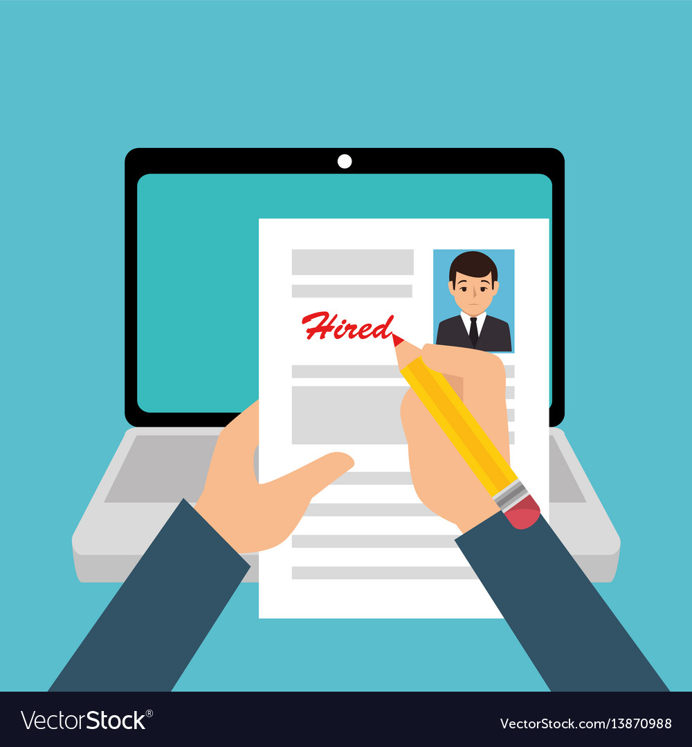 Curriculum Vitae Online Icon Royalty Free Vector Image