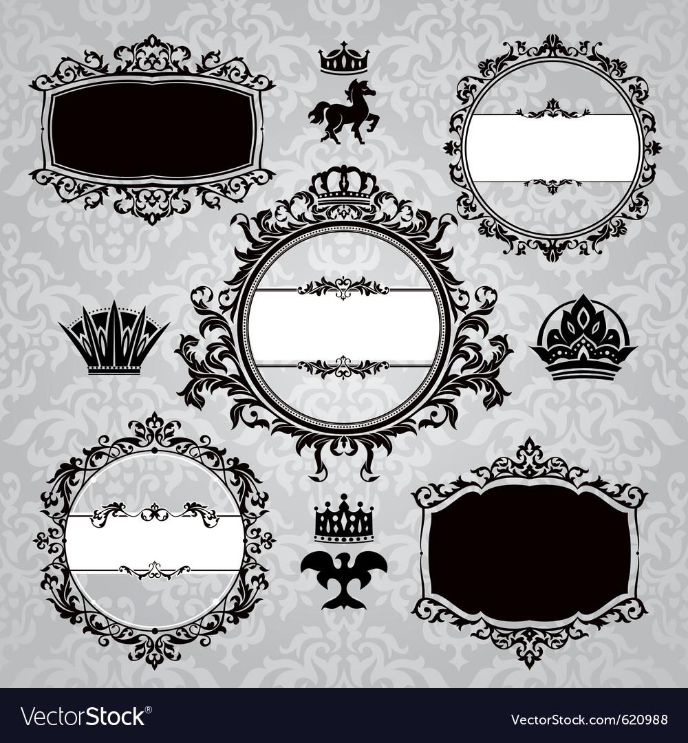 Frames and vintage design elements