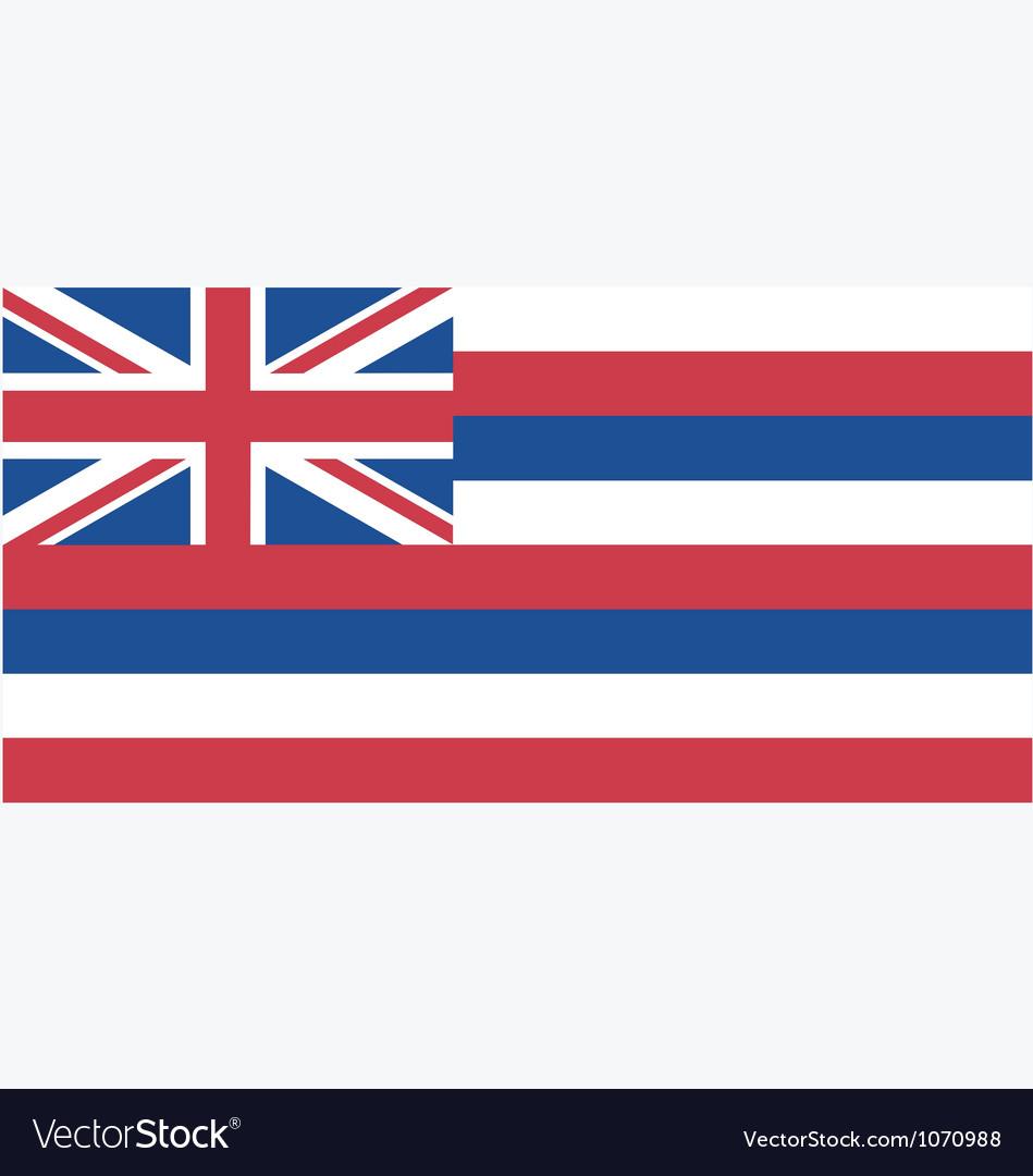 Hawaiian state flag vector image