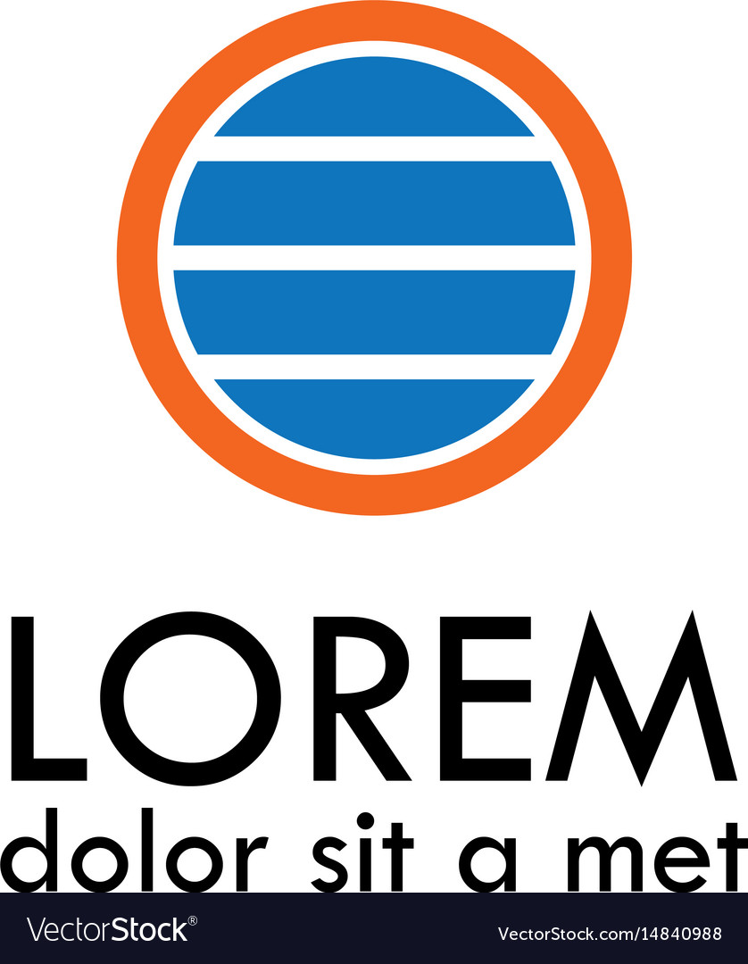 Round strip logo vector image