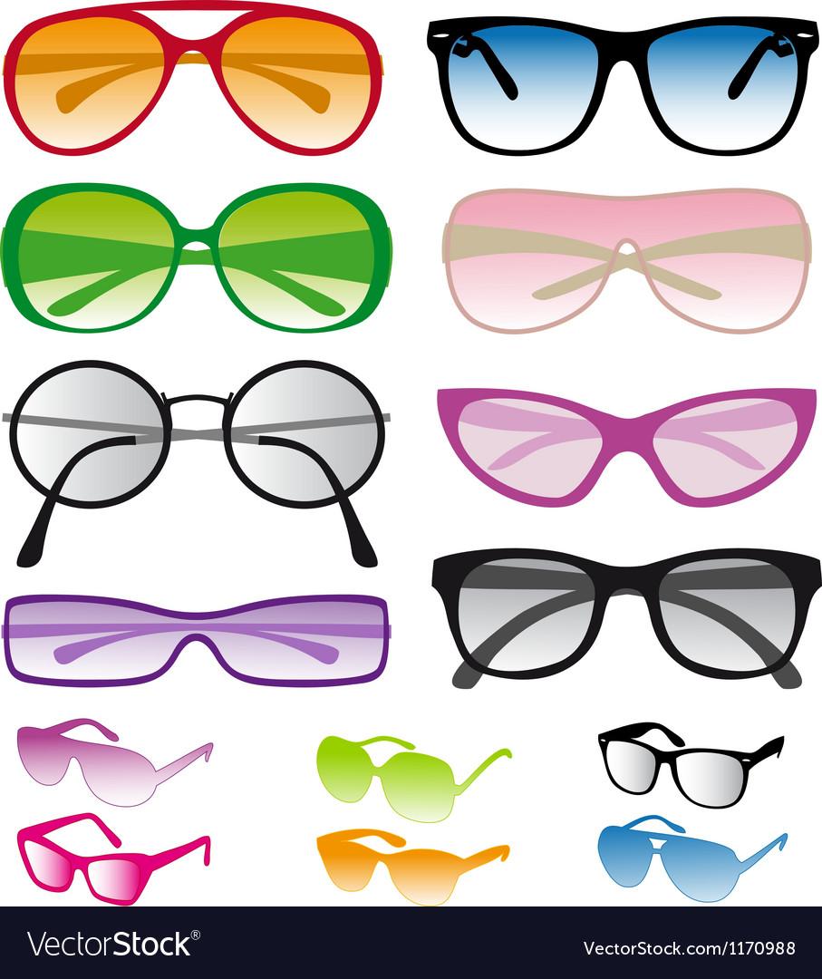 Set of colorful sunglasses