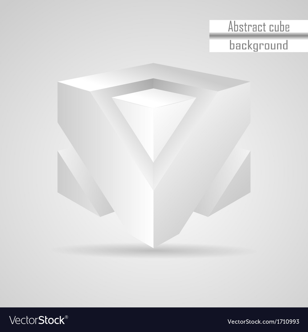 Abstract white 3d cube