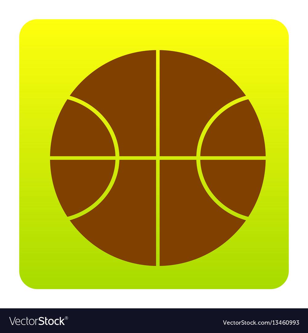 Basketball ball sign brown