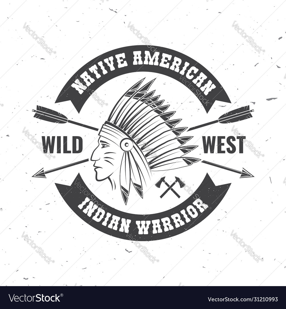 Native american indian warrior concept