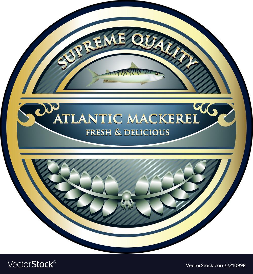 Atlantic Mackerel Label