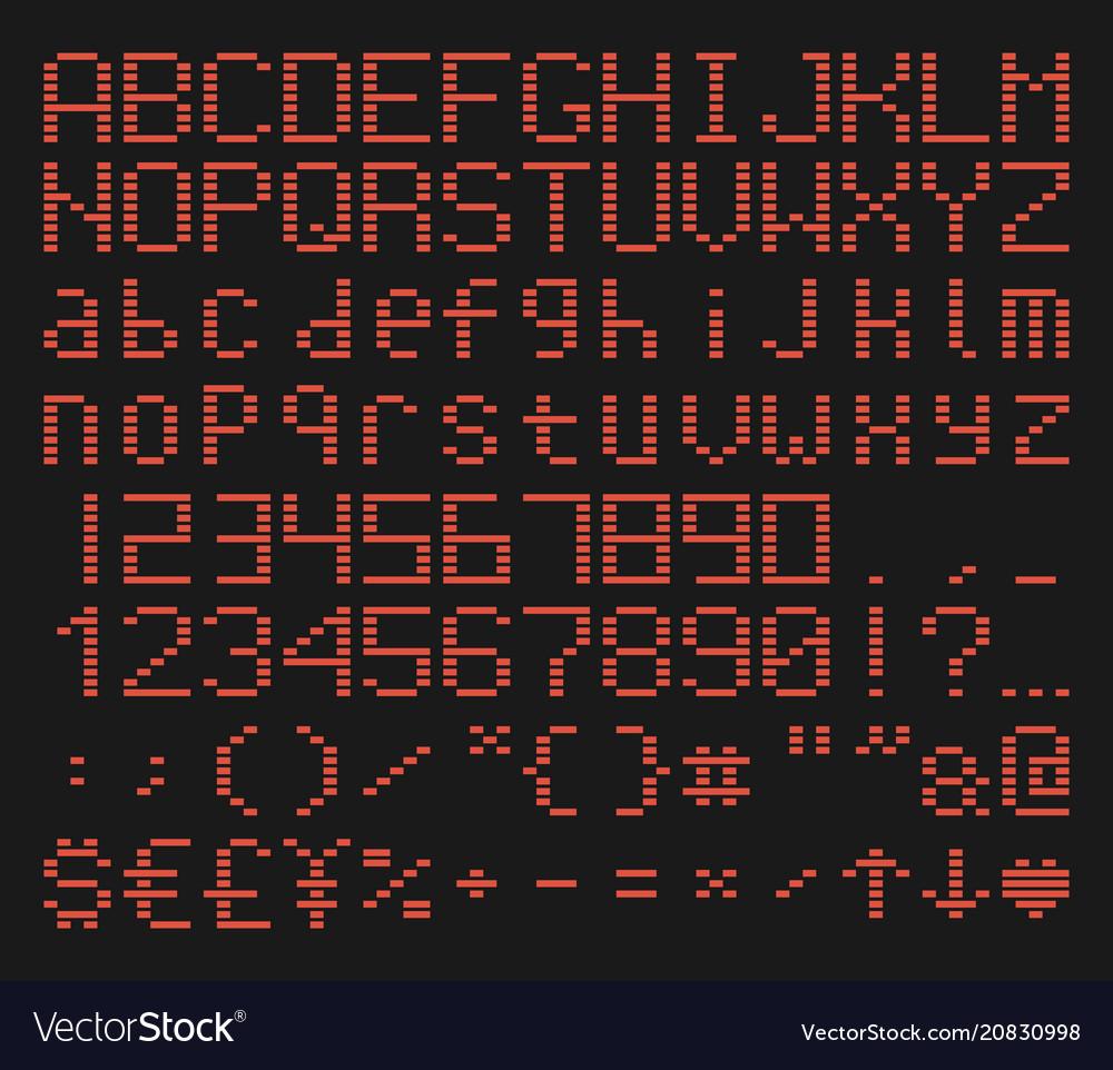 Brick font alphabet retro game typeface