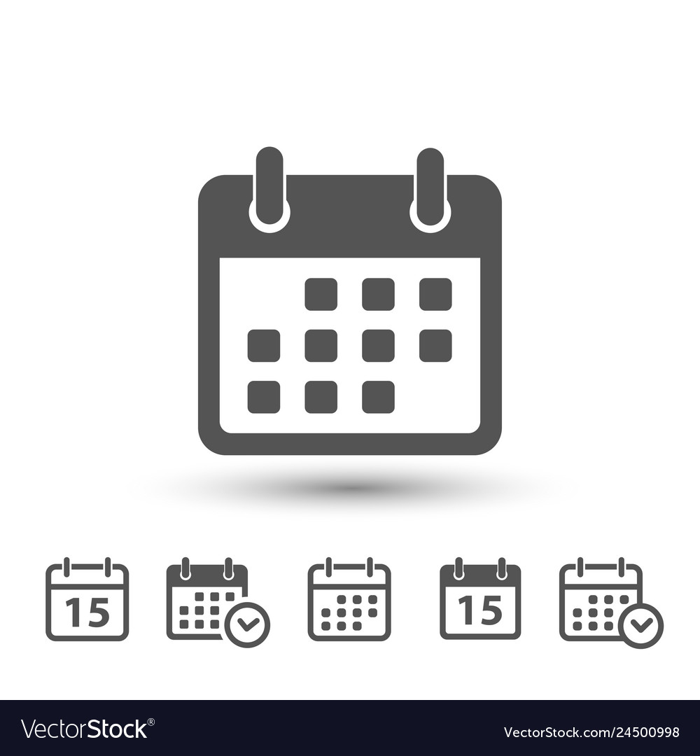 Calendar icons on white background