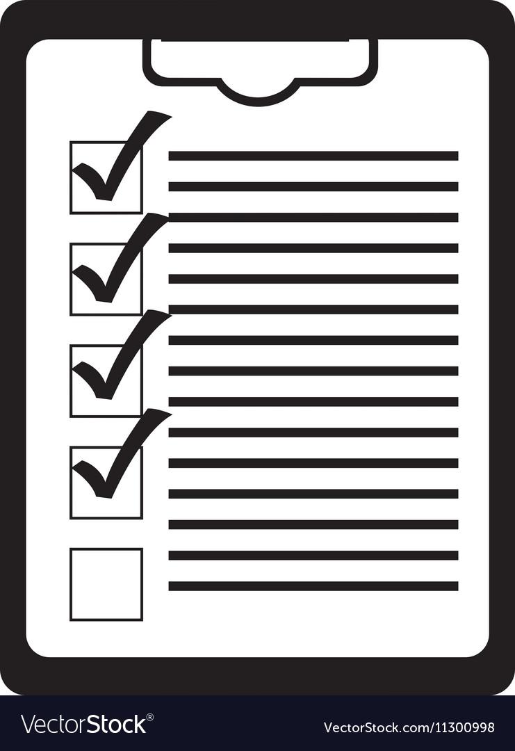 Clipboard with checklist icon image