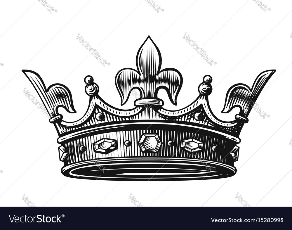 Crown hand drawn