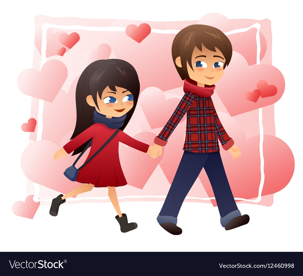 Detailed flat of walking vector image