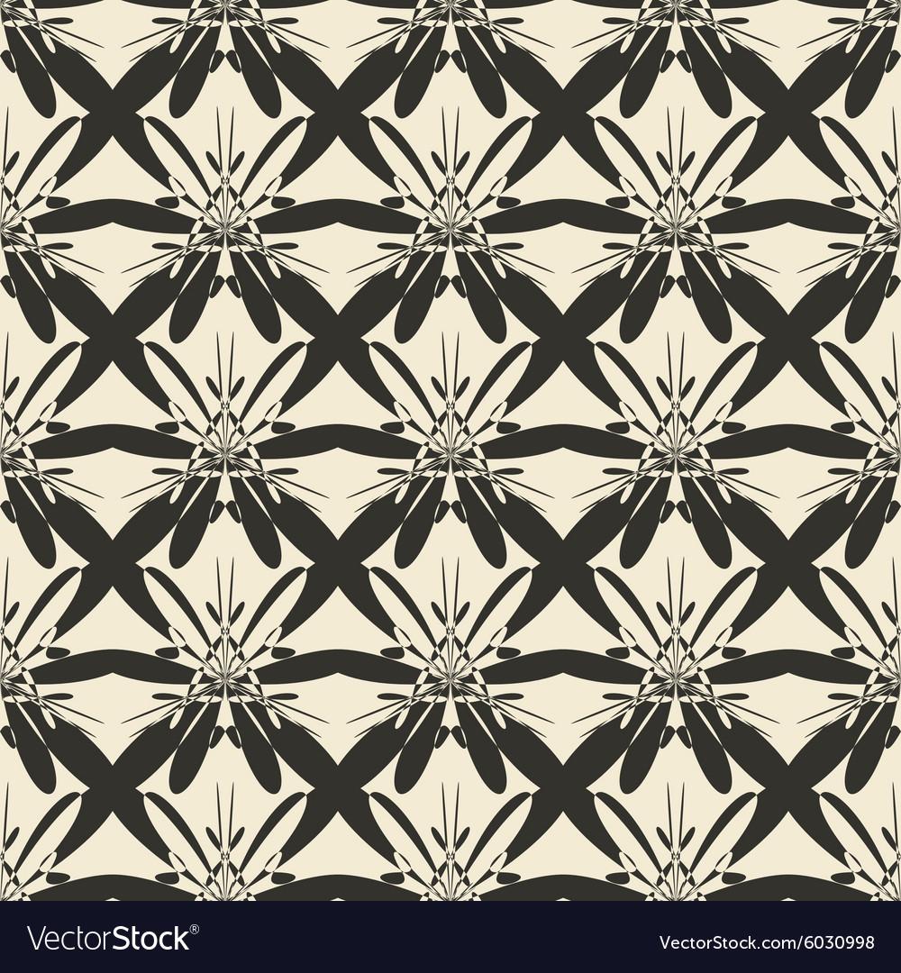 Geometric ornament seamless pattern Monochrome