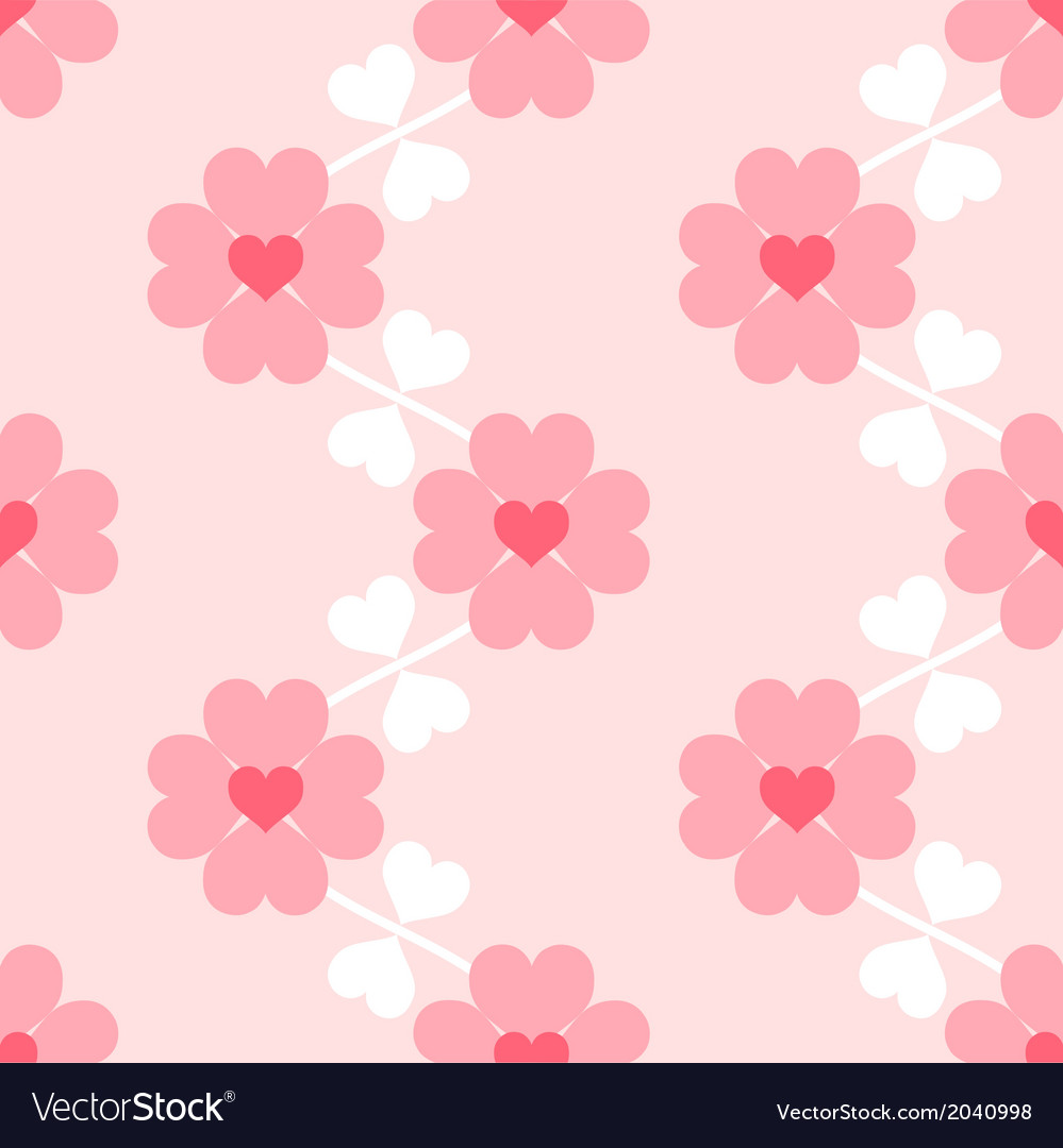 Heart Flower Soft Seamless Wallpaper Royalty Free Vector