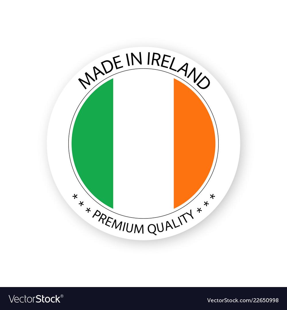 Modern made in ireland label irish sticker