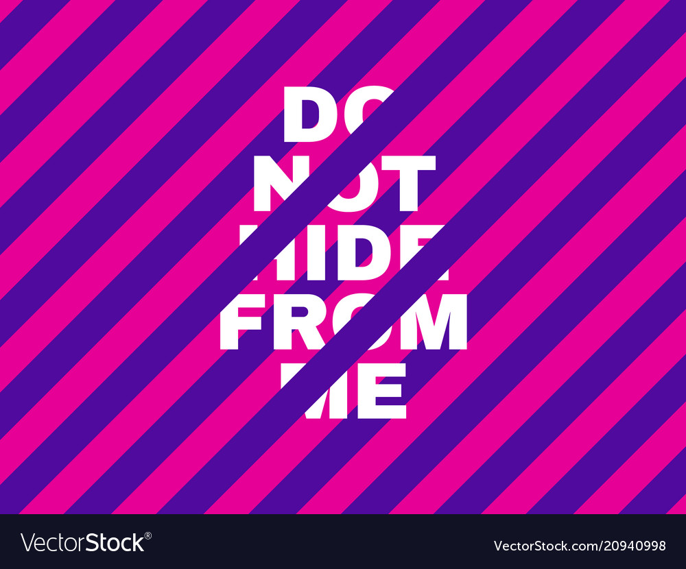 Pink and violet concept bright inscription on a