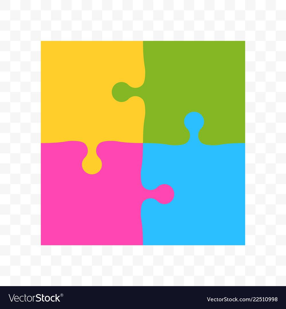 Puzzle square colors art icon