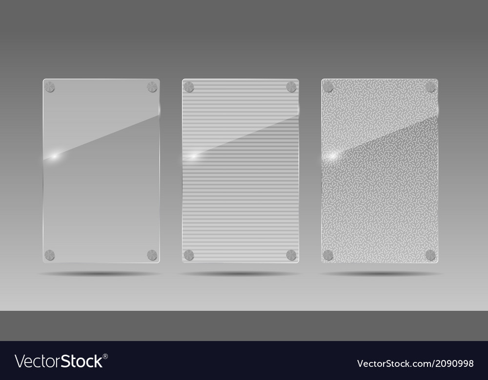 Realistic Glass Frames Royalty Free Vector Image