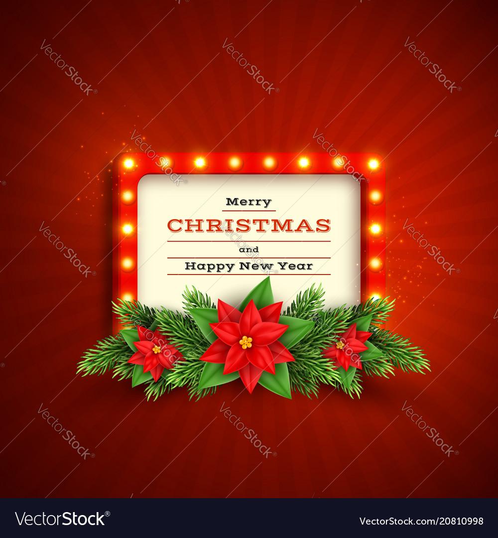 Retro christmas holiday background